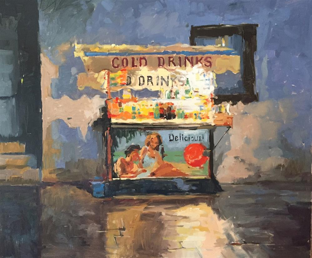 """""""Cold drinks, Venice"""" original fine art by Haidee-Jo Summers ROI"""