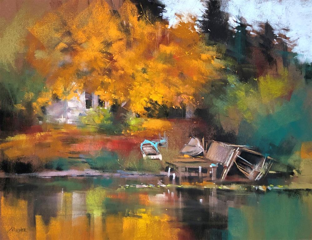 """""""Boat House"""" original fine art by Barbara Benedetti Newton"""
