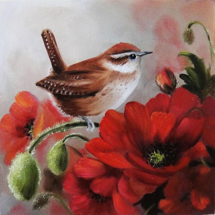 """Poppy Buds"" original fine art by Paulie Rollins"
