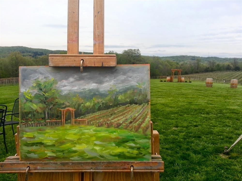 """Gateway to the Vineyard"" original fine art by Tammie Dickerson"