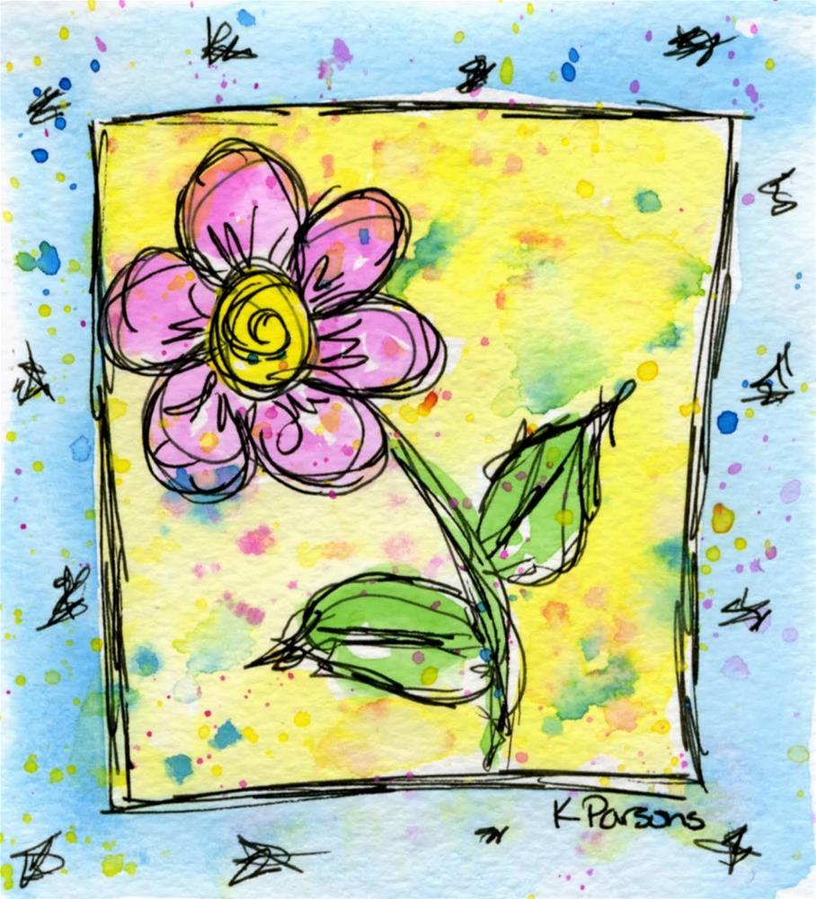 """""""Springy"""" original fine art by Kali Parsons"""