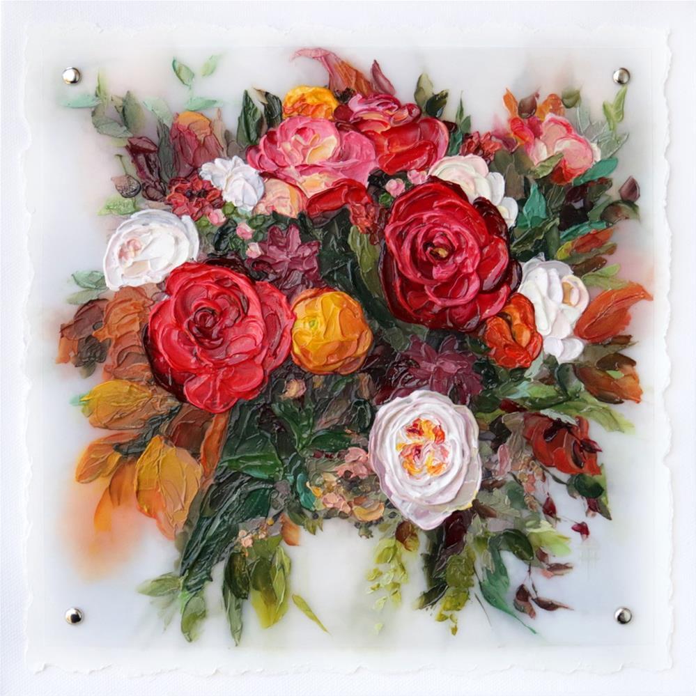 """""""Chrissy's Wedding Bouquet """" original fine art by Terri Heinrichs"""