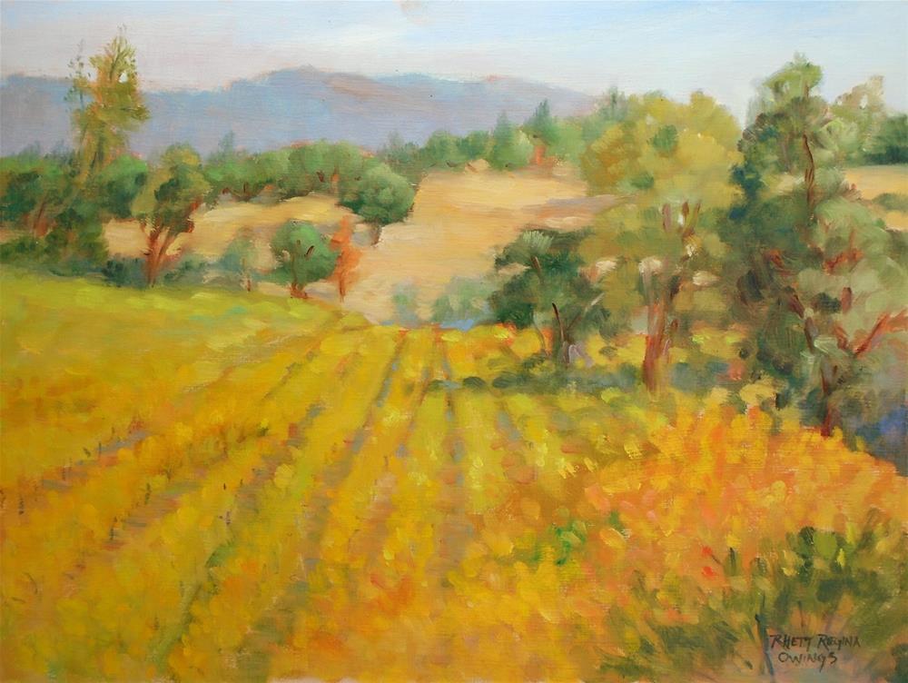 """Grape Vineyard in October"" original fine art by Rhett Regina Owings"