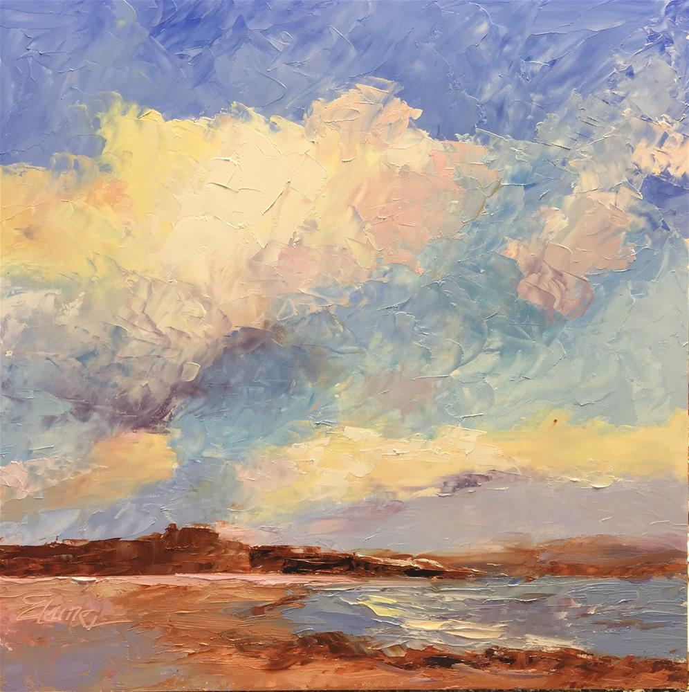 """""""Clouds at the Bay"""" original fine art by Elaine Ford"""