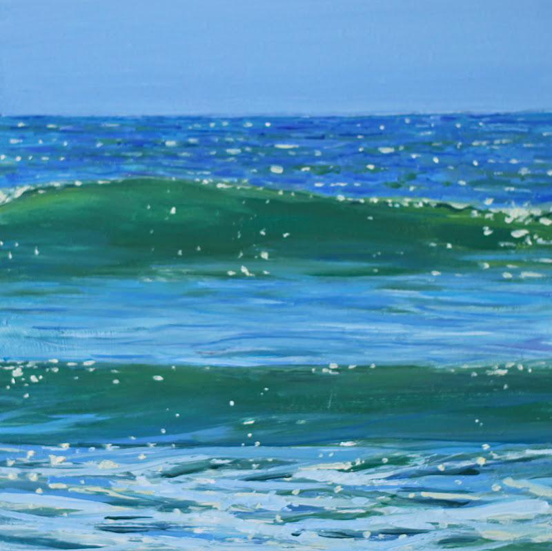 """""""New Wave"""" original fine art by Ken Devine"""