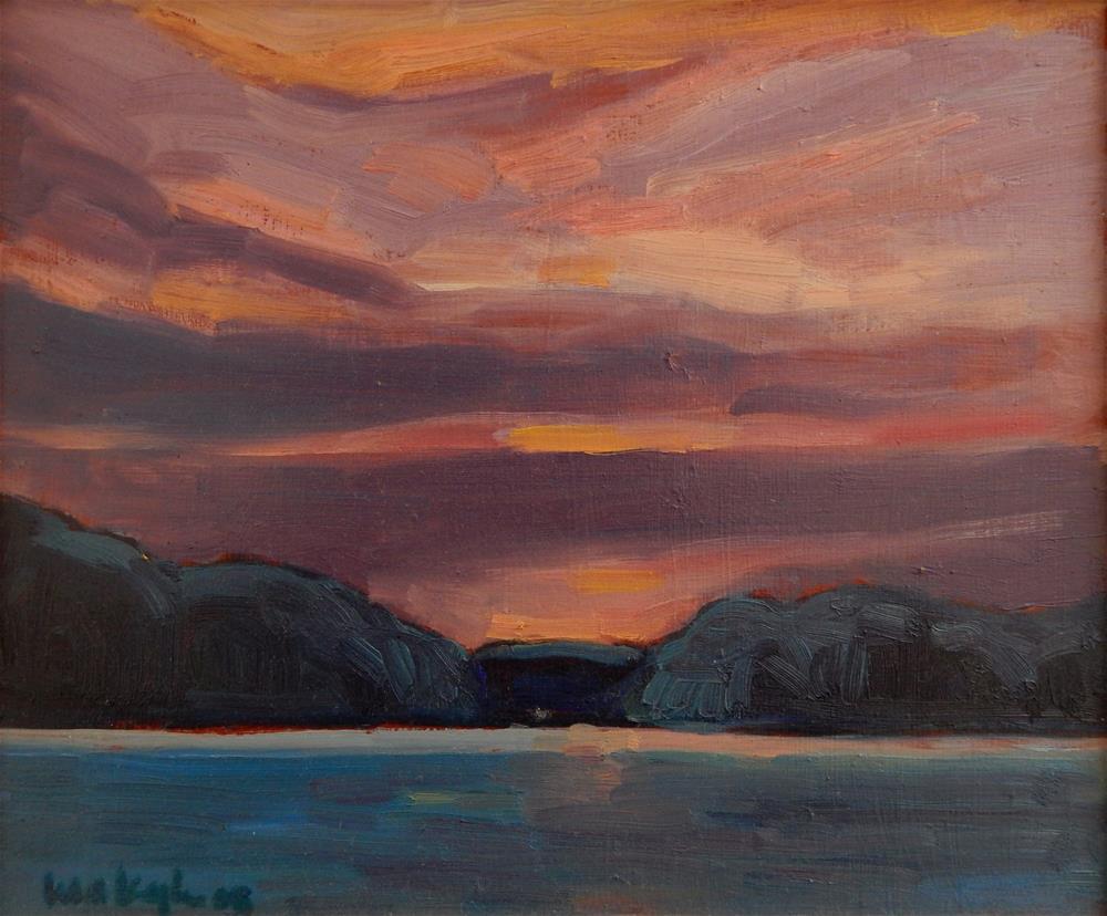 """Lakes Edge"" original fine art by Lisa Kyle"