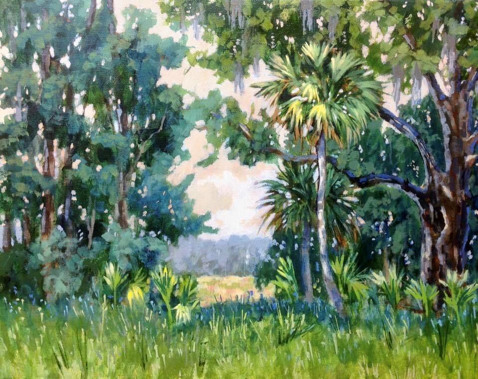 """""""Portal to Collins Field"""" original fine art by Linda Blondheim"""