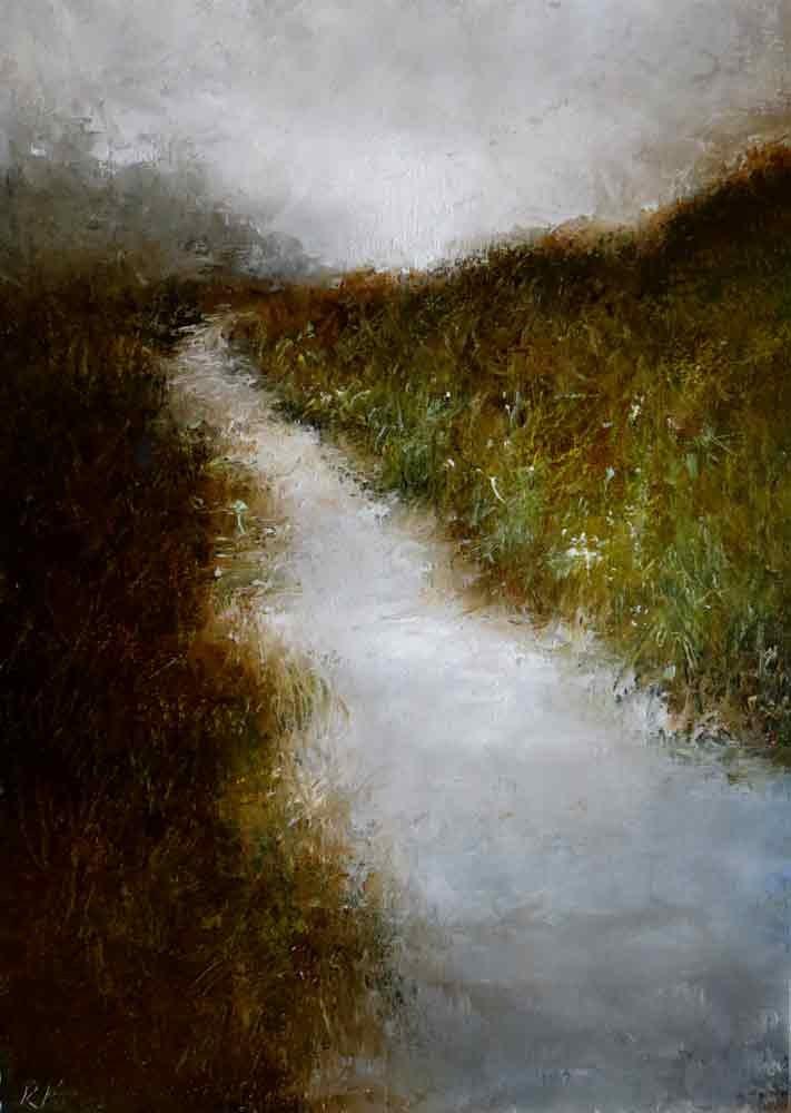 """The Long River"" original fine art by Bob Kimball"