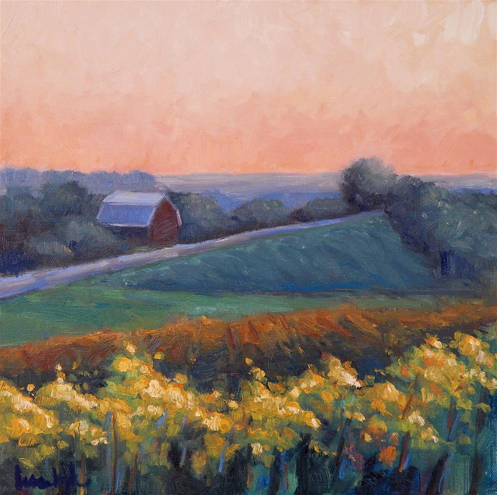 """Evening in the Vineyard"" original fine art by Lisa Kyle"