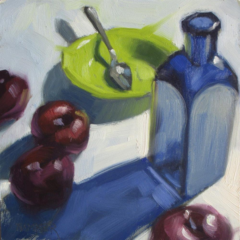"""Empty Bowl  6in x 6in  oil"" original fine art by Claudia Hammer"