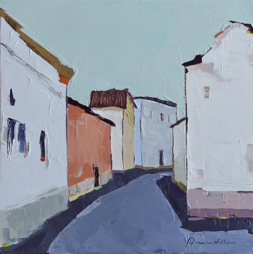 """""""Around the Corner"""" original fine art by Donna Walker"""