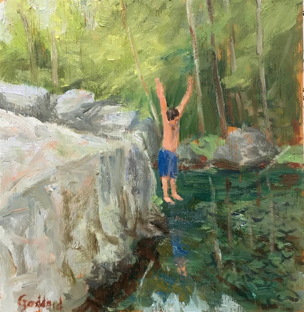 """Jumping for Joy"" original fine art by Shari Goddard Shambaugh"