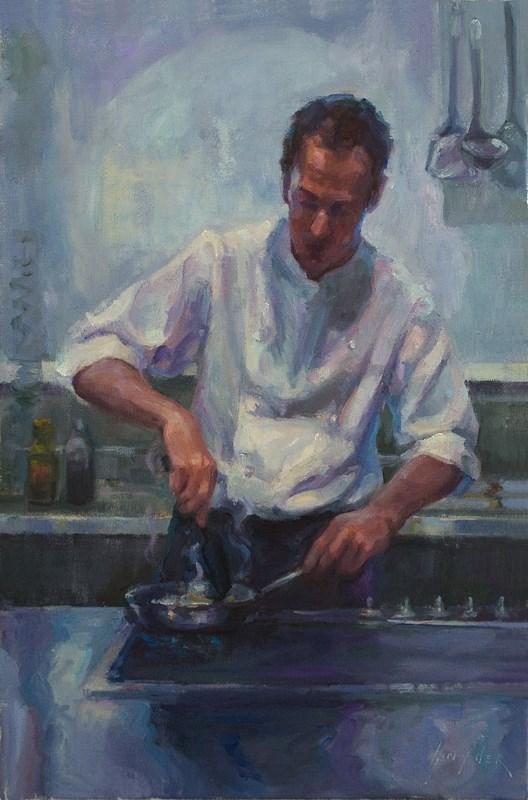 """Saute and Stir"" original fine art by Julie Snyder"