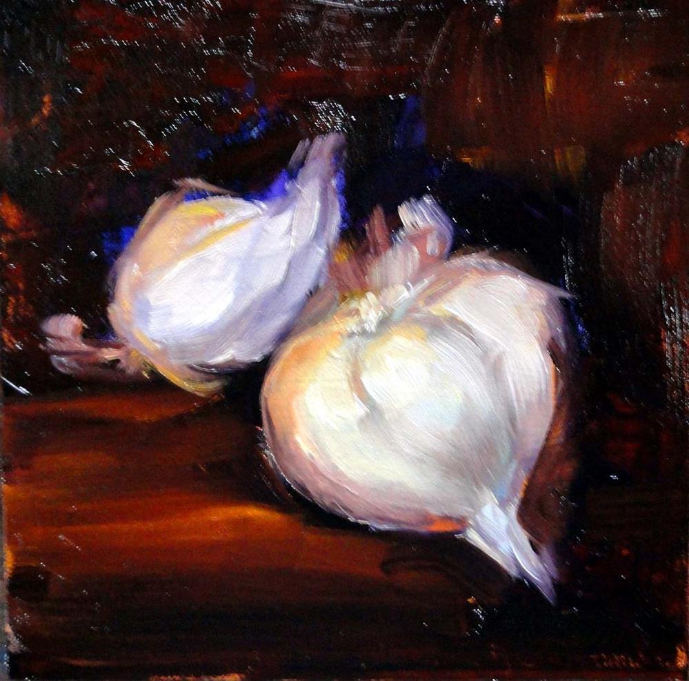 """Garlic"" original fine art by Cietha Wilson"