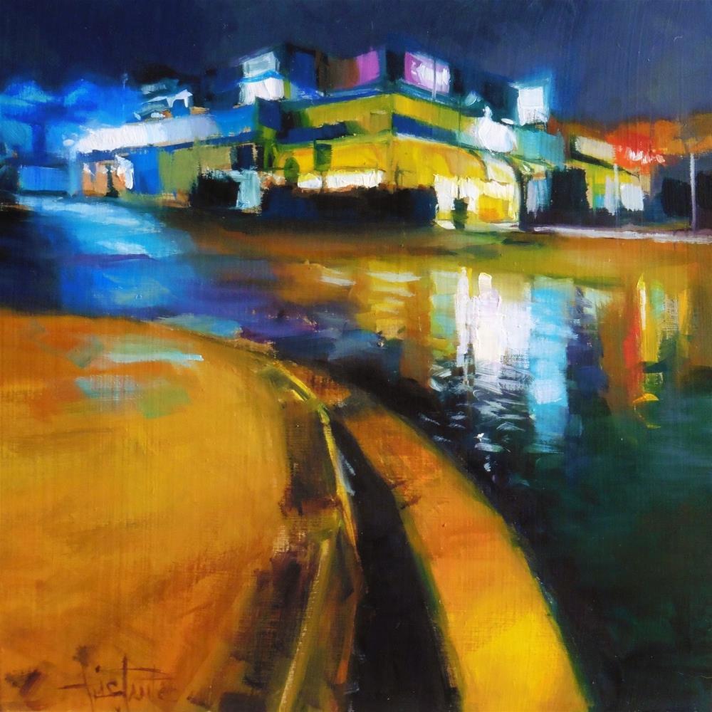 """""""Lighted corner"""" original fine art by Víctor Tristante"""