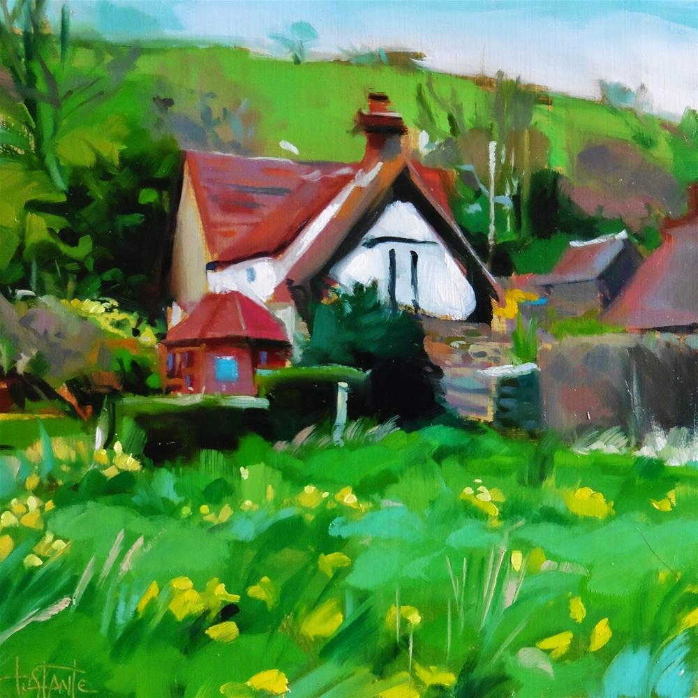 """Country house"" original fine art by Víctor Tristante"