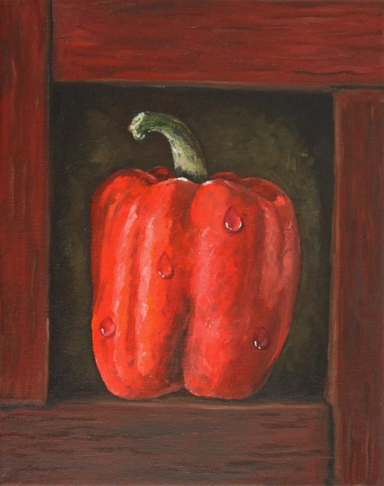 """""""Red Pepper In A Box"""" original fine art by Bob Williams"""