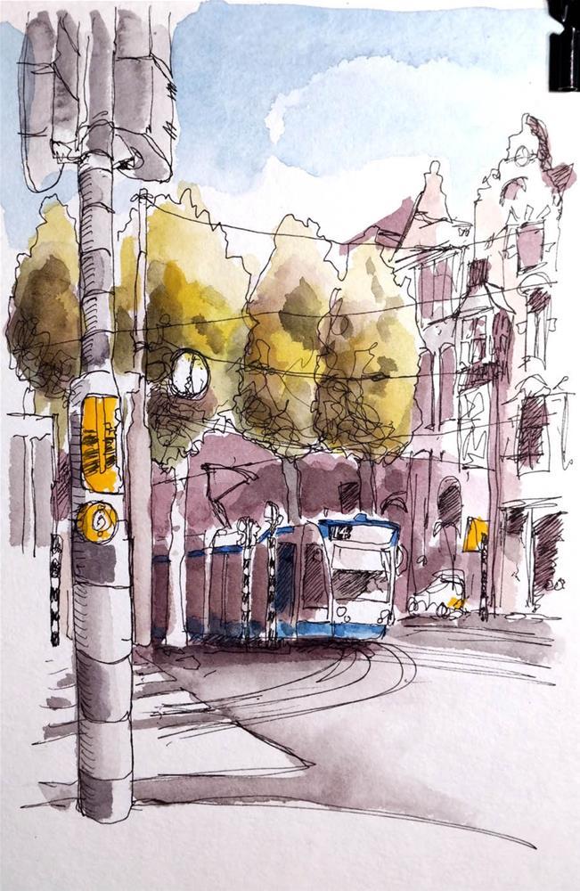 """""""2899 Tram 14"""" original fine art by Dietmar Stiller"""