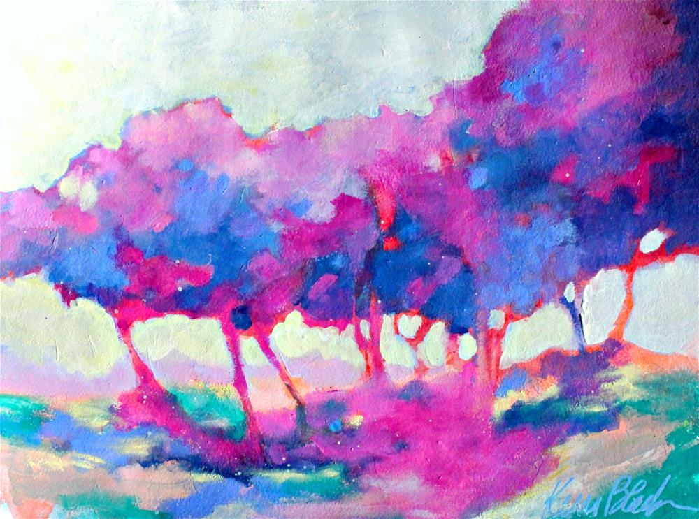 """Afternoon Sun and Trees "" original fine art by Kerri Blackman"