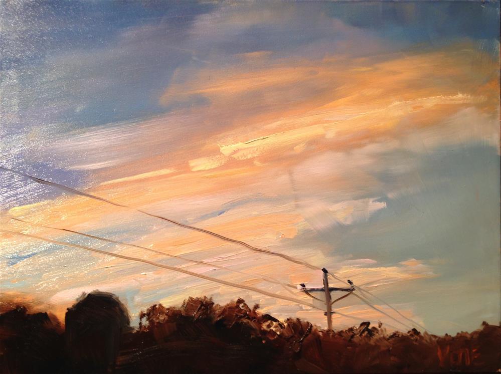"""#219 Quitting Time"" original fine art by Patty Voje"