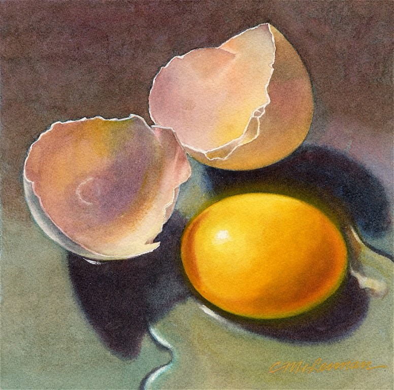 """Eggsploration"" original fine art by Connie McLennan"