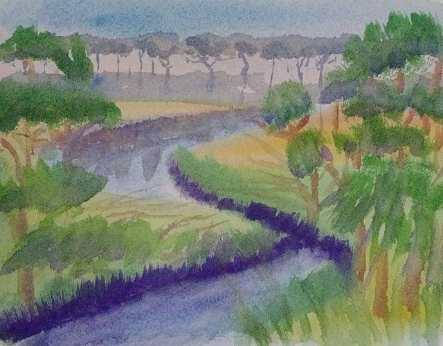 """Lakeside Glory"" original fine art by Maria Peagler"