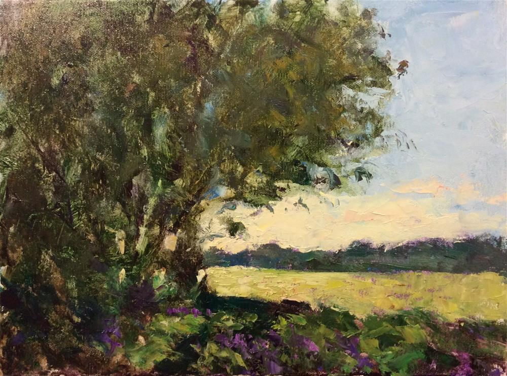 """Landscape with a Palette Knife"" original fine art by John Shave"