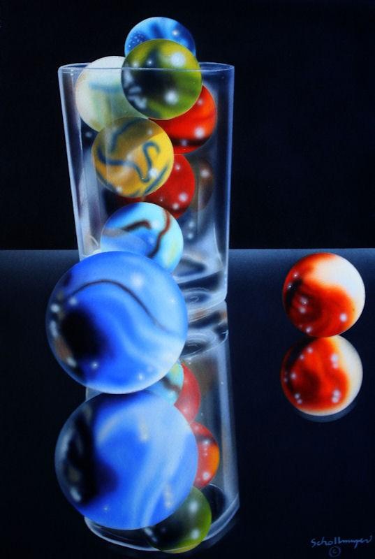 """""""Marbles#20"""" original fine art by Fred Schollmeyer"""