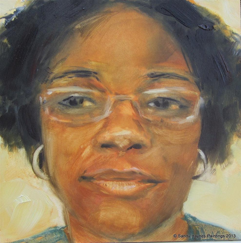 """Erica  and Chalonda #126"" original fine art by Sandy Haynes"
