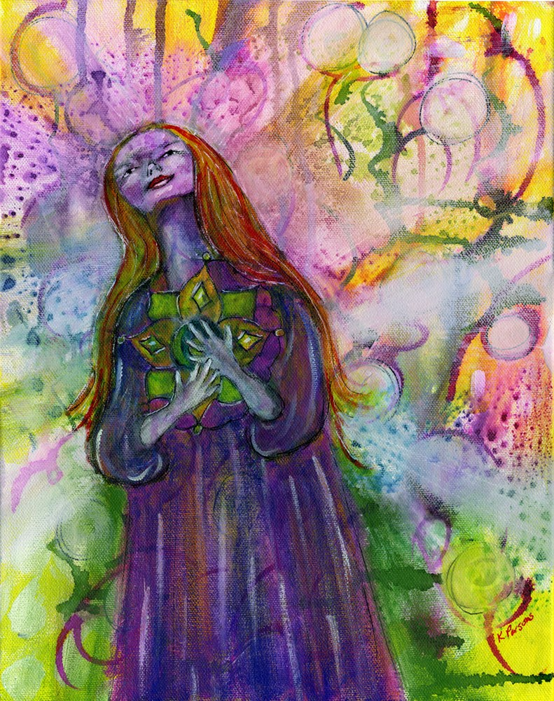"""""""Close to her Heart"""" original fine art by Kali Parsons"""