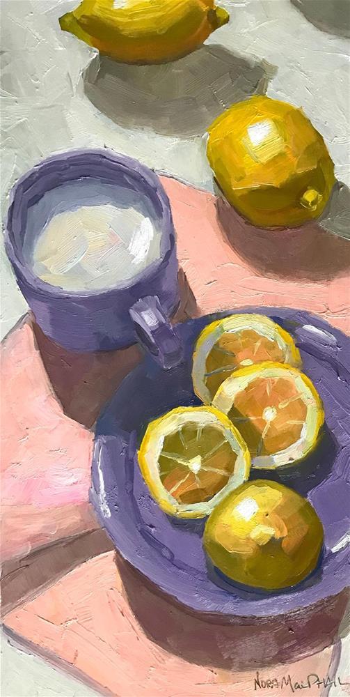 """the lemon chain"" original fine art by Nora MacPhail"