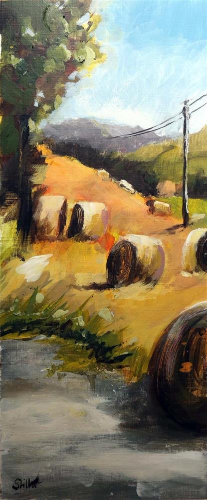 """""""3348 Hay Bales 02"""" original fine art by Dietmar Stiller"""