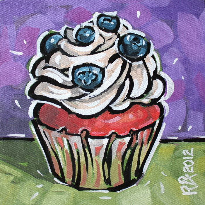 """Cupcake 4"" original fine art by Roger Akesson"