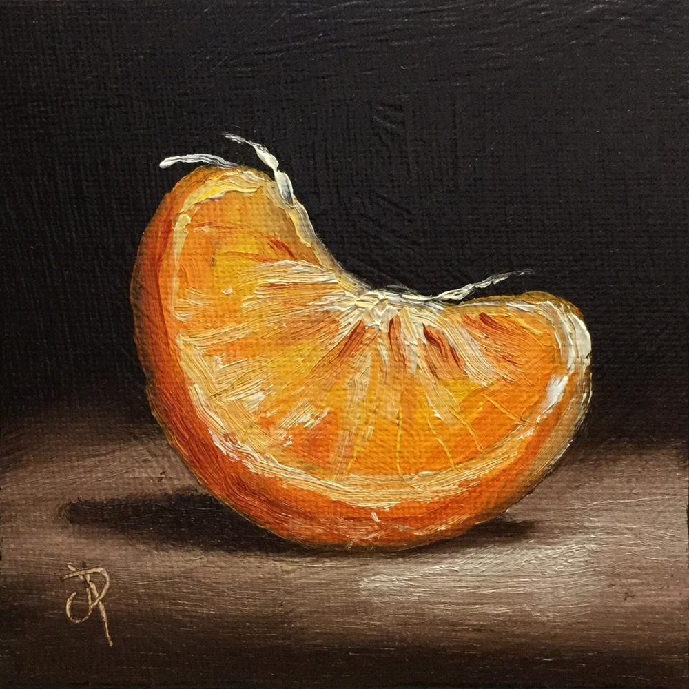 """""""Little Orange segment"""" original fine art by Jane Palmer"""