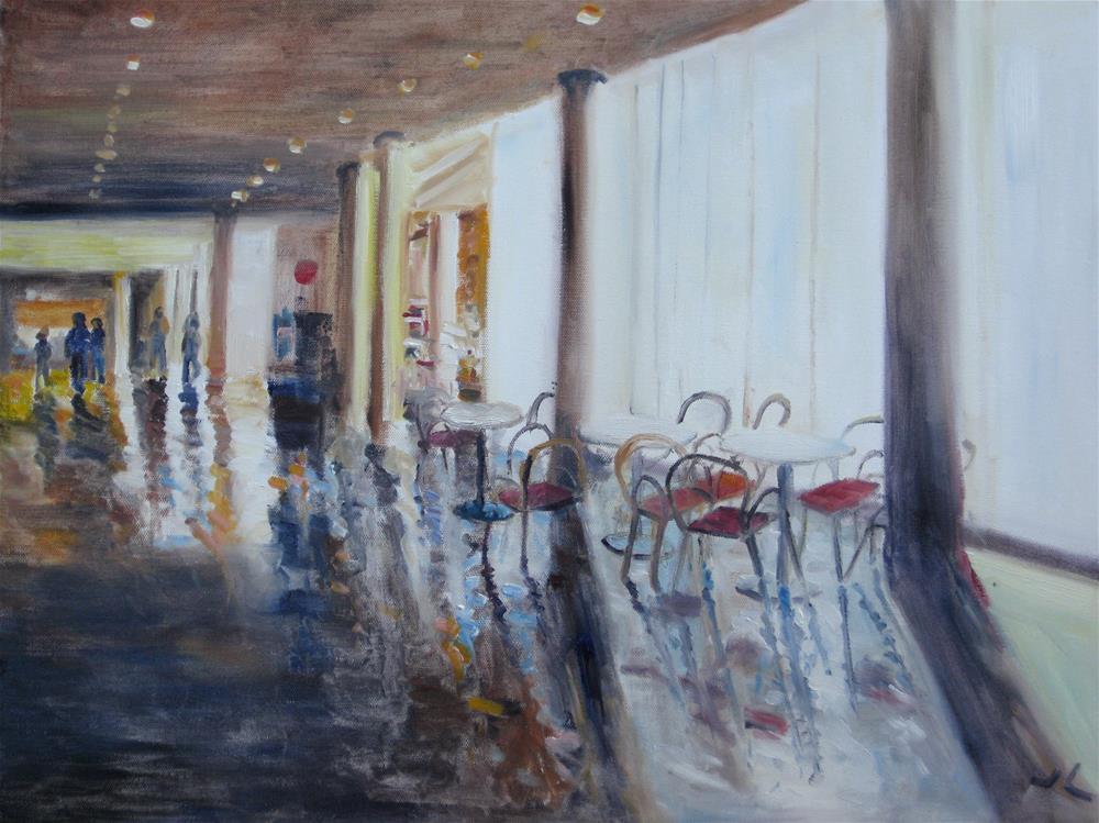 """Inside Denver Art Museum"" original fine art by Julia Lu"