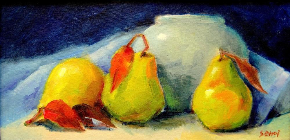 """Three Pears"" original fine art by Sunkyung Choi"