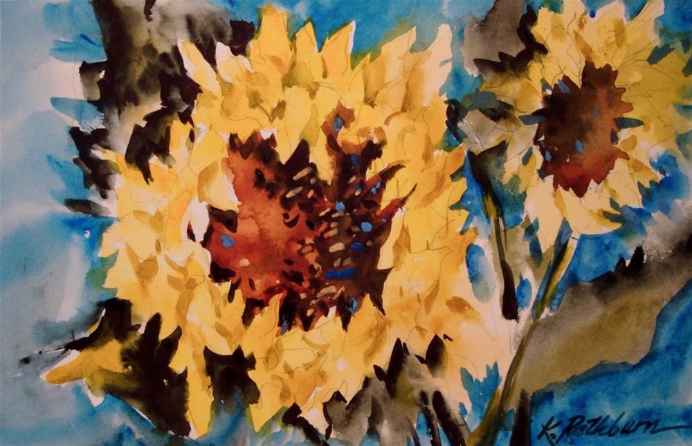 """Sunflower"" original fine art by Kathy Los-Rathburn"