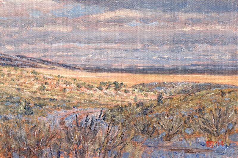 """""""C1585 On the Hot Springs Road (Hart Mountain National Antelope Refuge, Oregon High Desert)"""" original fine art by Steven Thor Johanneson"""