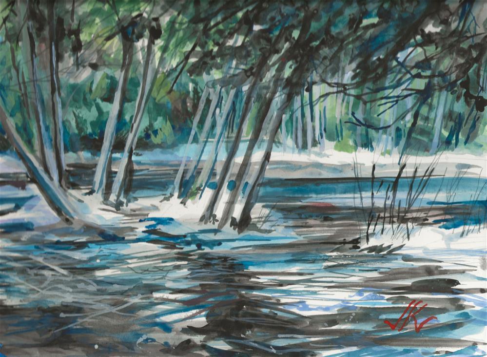 """Raquette River, Long Lake, NY"" original fine art by Jean Krueger"
