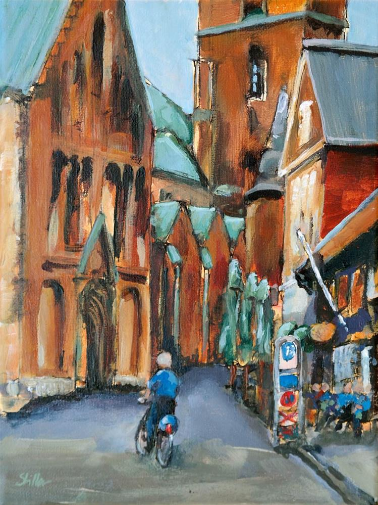 """1723 Ribe Cathedral"" original fine art by Dietmar Stiller"