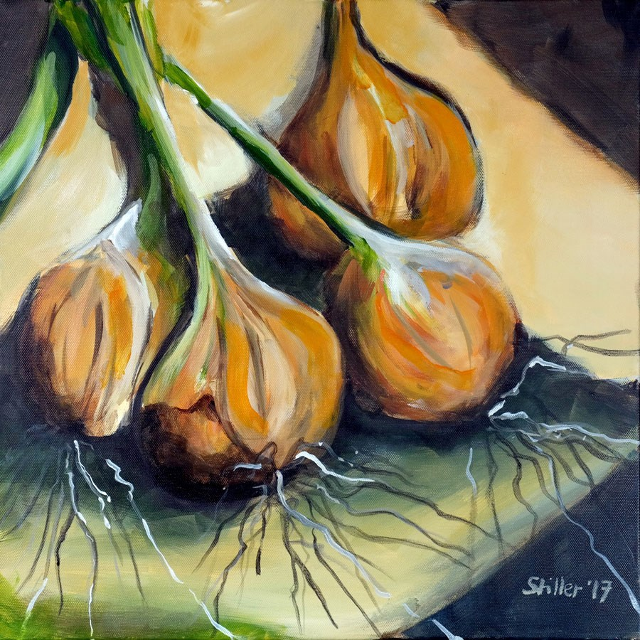 """2244 The Onion (Painting of the week #16)"" original fine art by Dietmar Stiller"