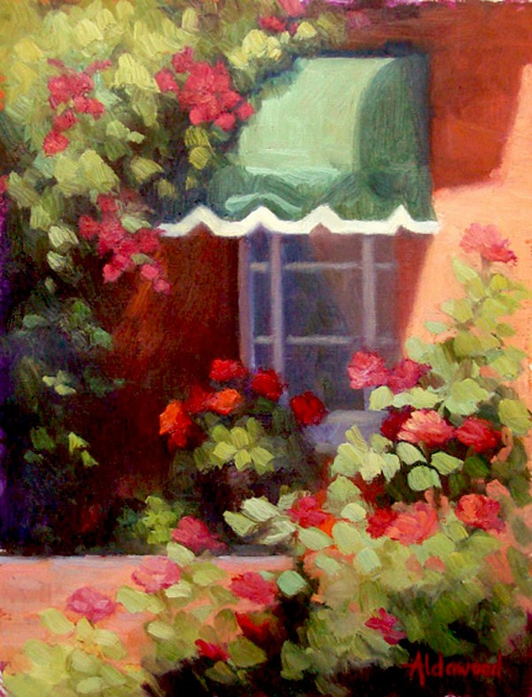 """A Rosy View"" original fine art by Sherri Aldawood"