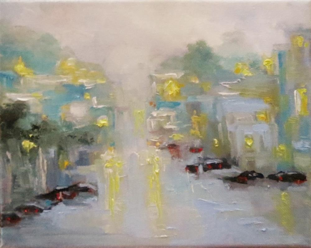 """""""We Lived There(rainy Cityscape)"""" original fine art by Astrid Buchhammer"""