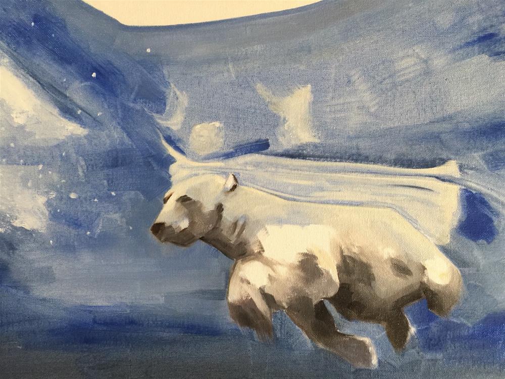 """323 Polar Bear"" original fine art by Jenny Doh"