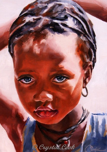"""Tenacious"" original fine art by Crystal Cook"