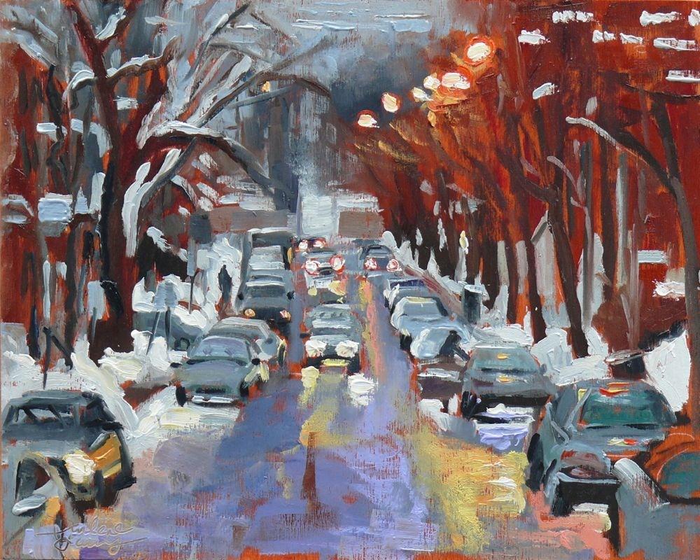 """560 Avenue du Musée"" original fine art by Darlene Young"