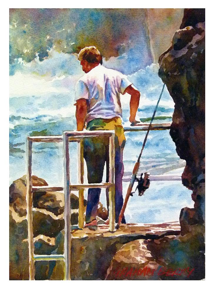 """Looking to fish."" original fine art by Graham Berry"