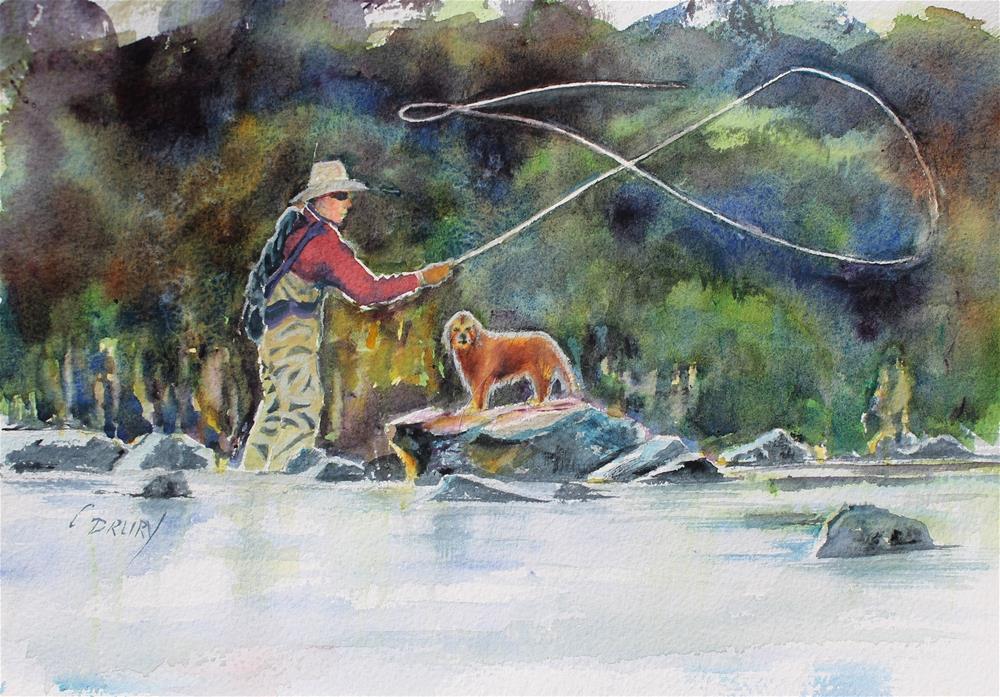"""Fishing Buddies"" original fine art by Colleen Drury"