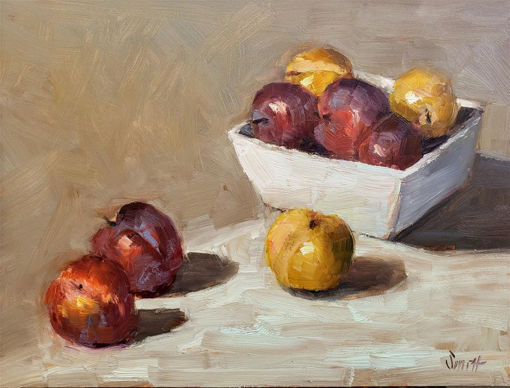 """""""Still Life With Plums"""" original fine art by Barbie Smith"""