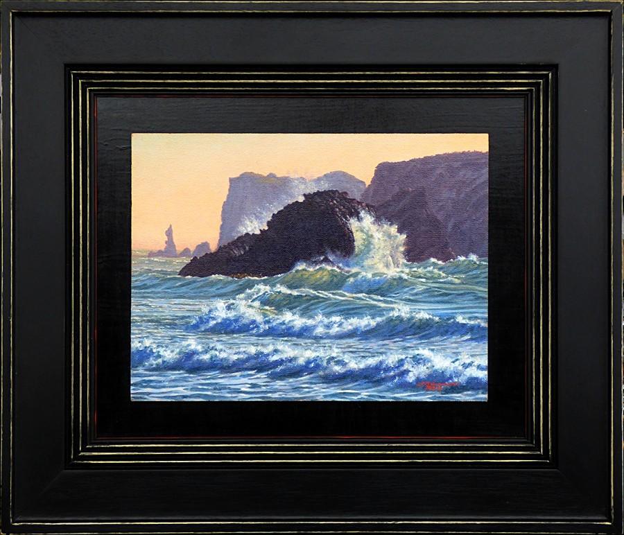 """C1683 ""Evening Surf"" (Bandon, Oregon)"" original fine art by Steven Thor Johanneson"